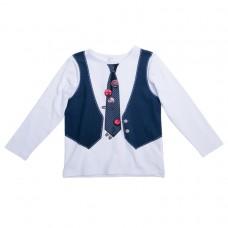 Джемпер белый с жилеткой и галстуком