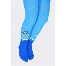 Колготки детские голубые синяя стопа
