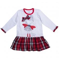 Платье белое с красной юбкой