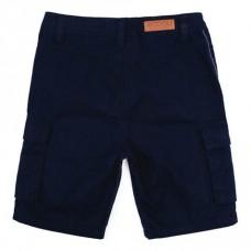 Бриджи текстильные темно-синие с карманами