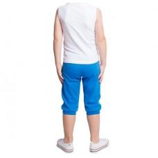 Бриджи спортивные голубые с бел. полосами