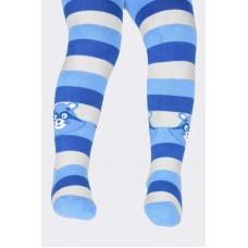 Колготки синяя полоска енот махровые
