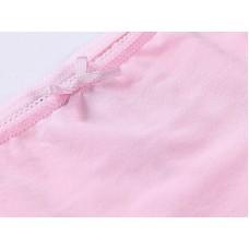 Комплект бело-розовых трусиков
