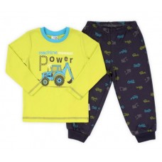 Пижама фисташковая с серым