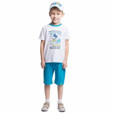 Комплект для мальчика бело-бирюзовый BRAVE THE WAVE