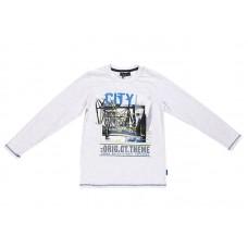 Белый хлопковый джемпер с принтом CITY