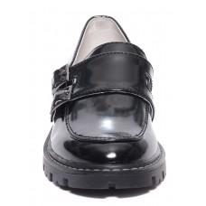Туфли лаковые черные с двумя пряжками (33-37)