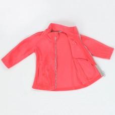 Куртка для девочки розовая флис