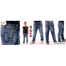 Брюки джинсовые детские сетчатые колени