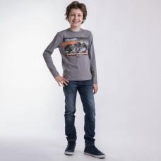 Джемпер для мальчика серый трикотаж MOUNTAIN