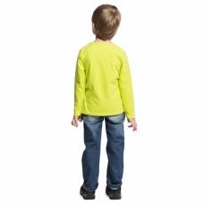 Джемпер для мальчика желтый трикотаж утки футболисты