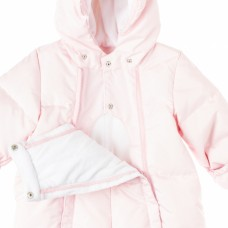Нежно-розовый комбинезон на молнии