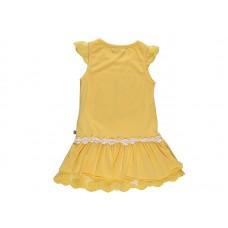 Платье для девочки желтое с ботинками