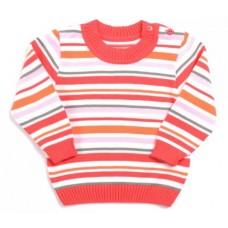Джемпер для мальчика Оранжевый в полоску