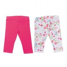 Бриджи для девочки розовые / с цветами