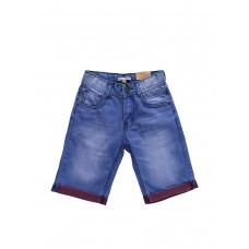 Бриджи джинсовые с красными отворотами