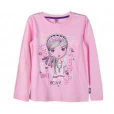 Джемпер для девочки розовый LOVE
