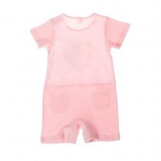 Комбинезон детский трикотажный для девочек розовый