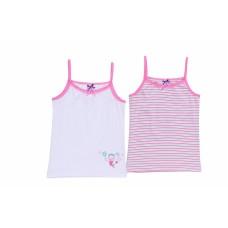 Комплект бело-розовых маек для девочек