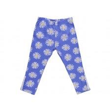 Бриджи для девочки голубые с одуванчиками
