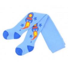 Колготки голубые с ракетой