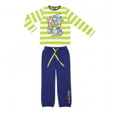 Комплект для мальчика салатовый с синим