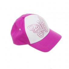Кепка для девочки розовая с бабочкой