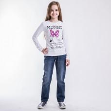 Джемпер для девочки розовый бант