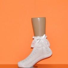 Носки белые кружево