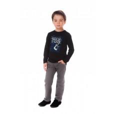 Джемпер для мальчика черный трикотаж ROCK STORM