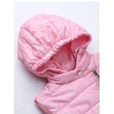 Жилет розовый с капюшоном
